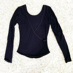 FREE PEOPLE intimately black low back top